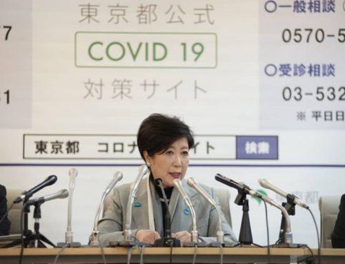 Con l'aumento dei casi di virus, il governatore di Tokyo afferma che il blocco potrebbe essere l'unico modo per arginare la pandemia