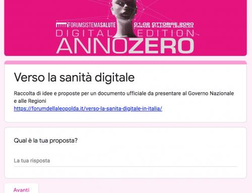 Raccolta di idee e proposte sulla sanità digitale in Italia